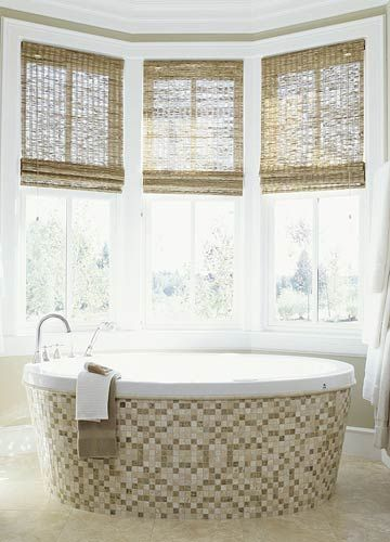 Bamboo Shades In Bathroom Bathroom Window Treatments Bathroom