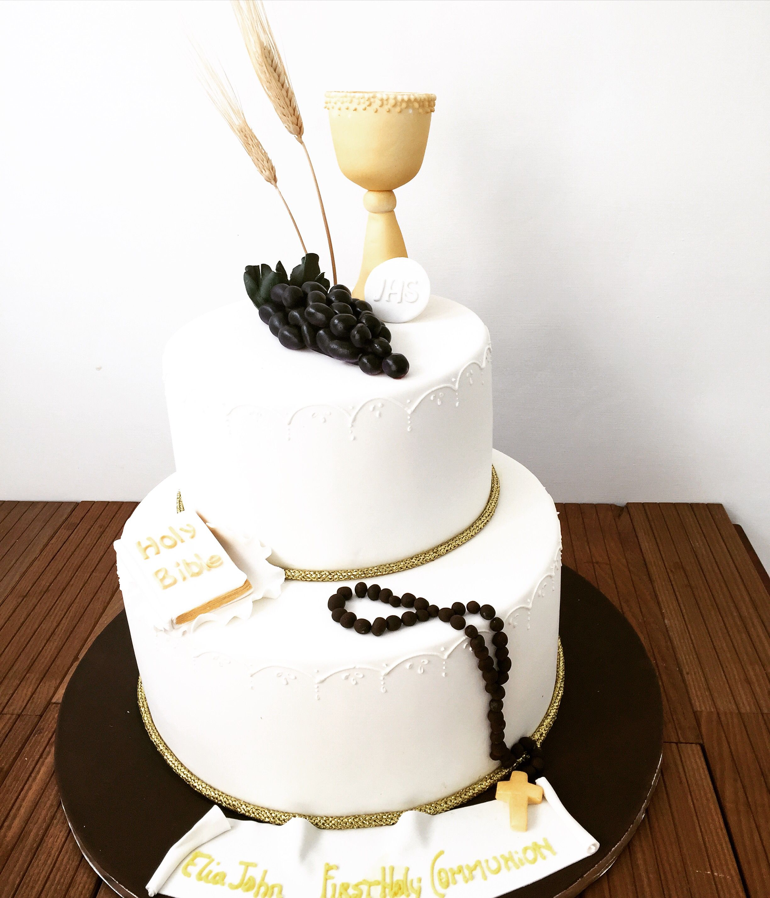 Holy communion two tier cake holy communion cakes first