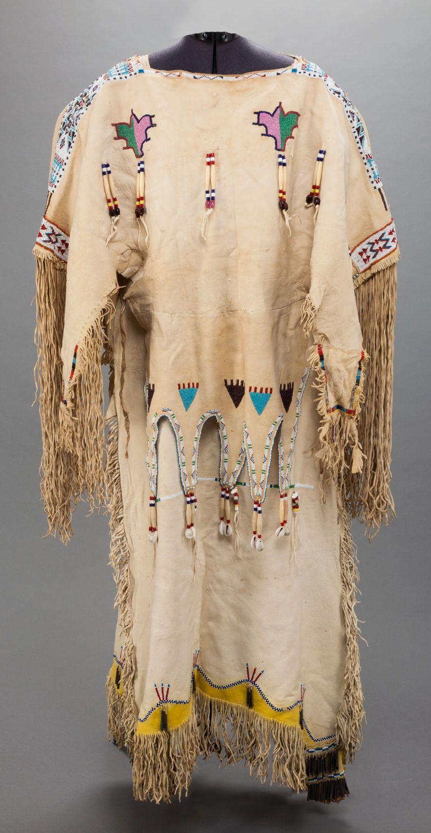 Kiowa Beaded Hide Dress (BACK) - c. 1910 ...