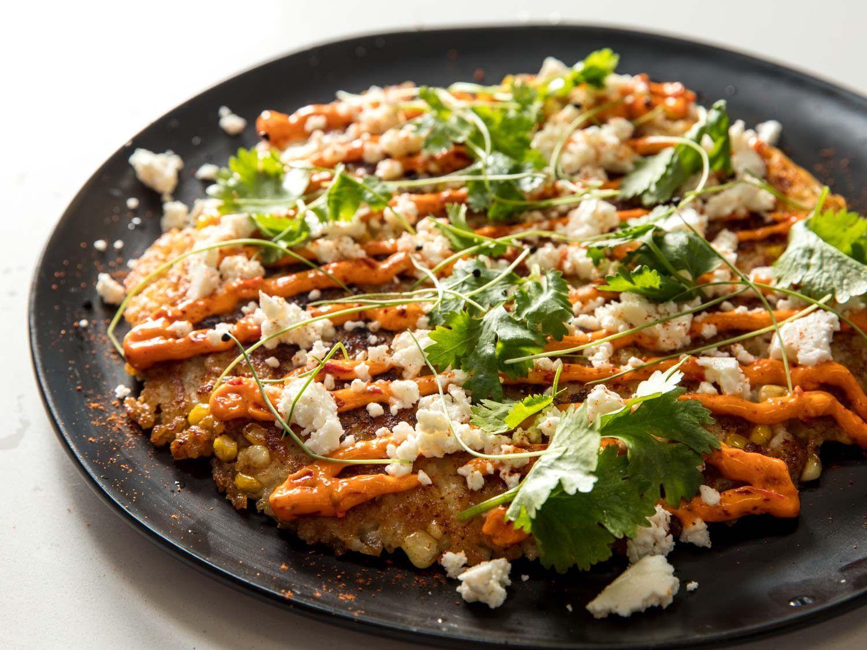 Mashup ethnic food recipes pinterest Riselotes Al Salto Elote Flavored Risotto Pancake Recipe Recipe Recipes Risotto Elote