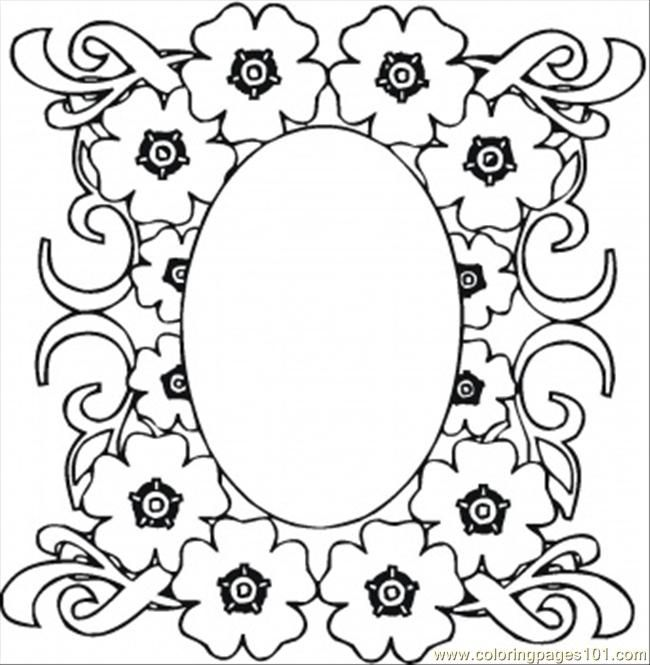 Pattern Coloring Sheets Printables : Mirrow in the flowers coloring page free pattern pages