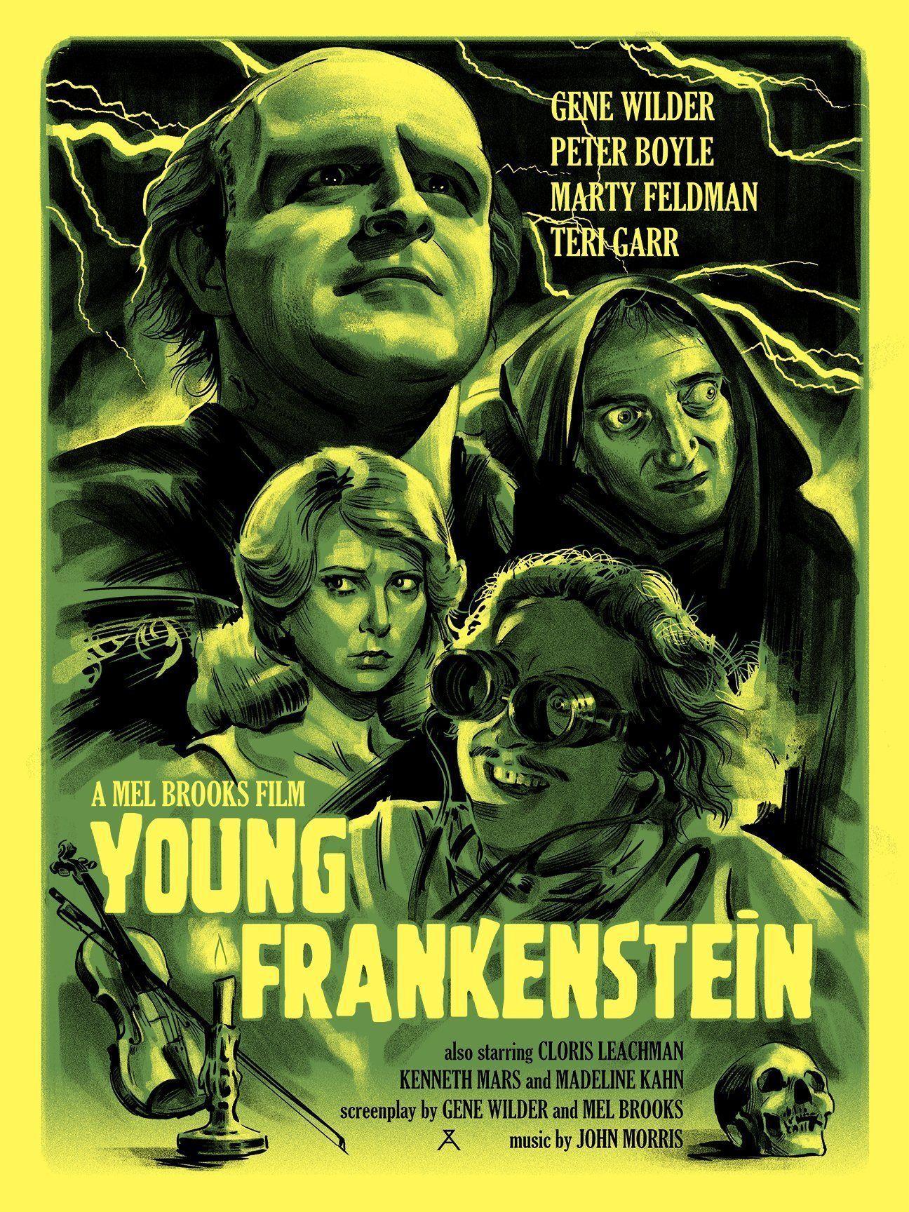 Young Frankenstein Movie Poster Young frankenstein