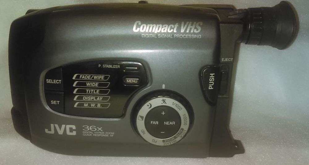 Jvc Compact Vhs Camcorder 36x Tested And Working Jvc Vhs Camcorder