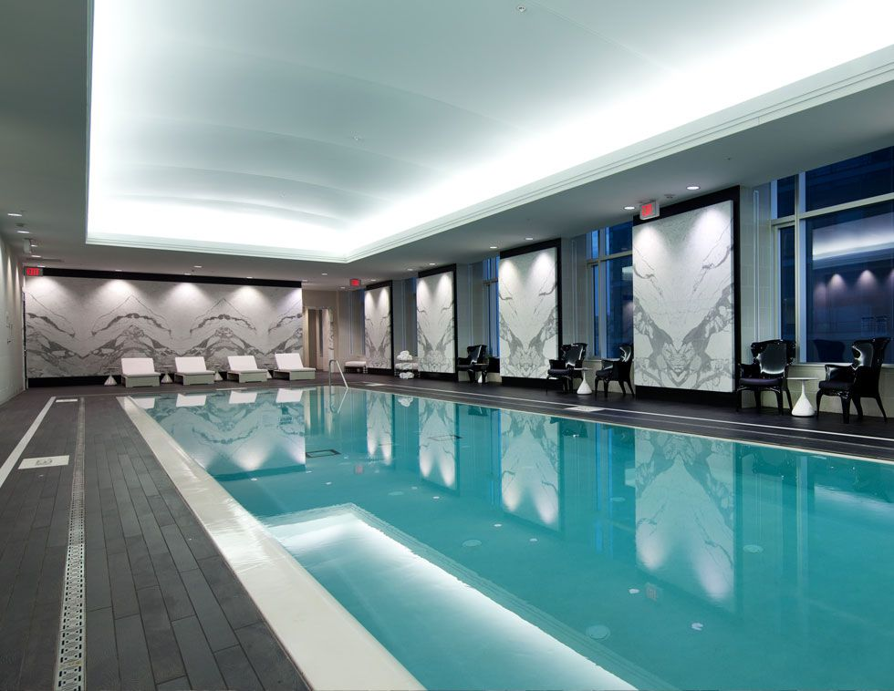 The Indoor Quartz Crystal Spa Pool at the Trump International Hotel