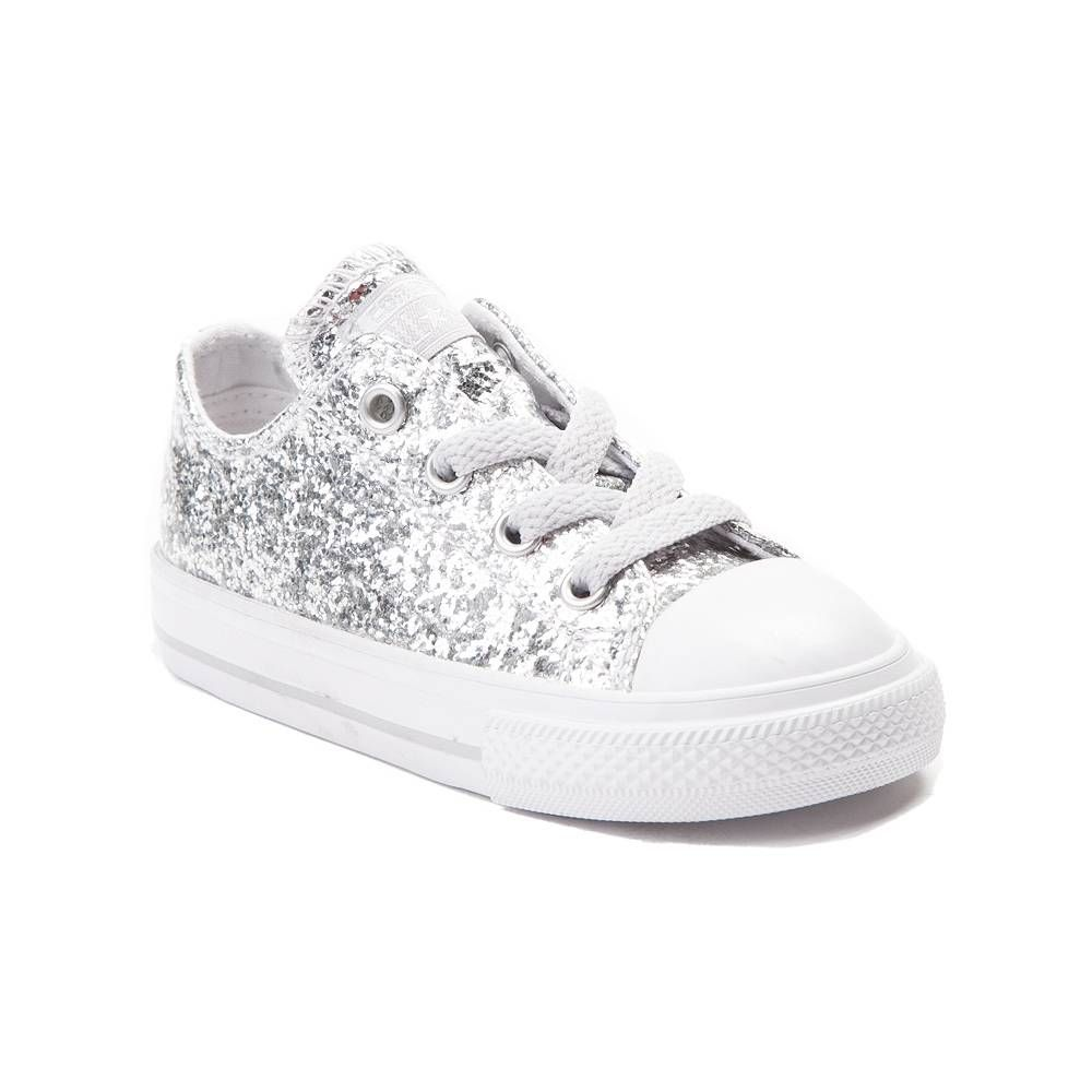 5d1316efec4b Toddler Converse Chuck Taylor All Star Lo Glitter Sneaker - Silver -  99399500 SIZE 9