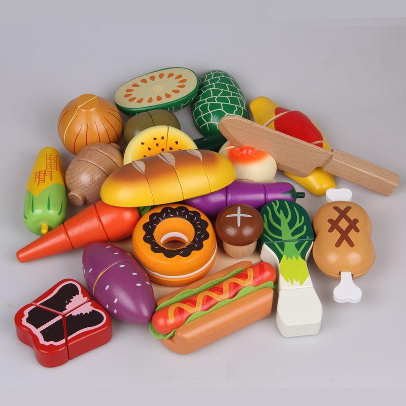 3.5US $ |Juguetes de cocina para niños, casa de juegos de madera de alta calidad, regalo de cumpleaños, 1 ud.|kitchen food toys|food toykids kitchen - AliExpress