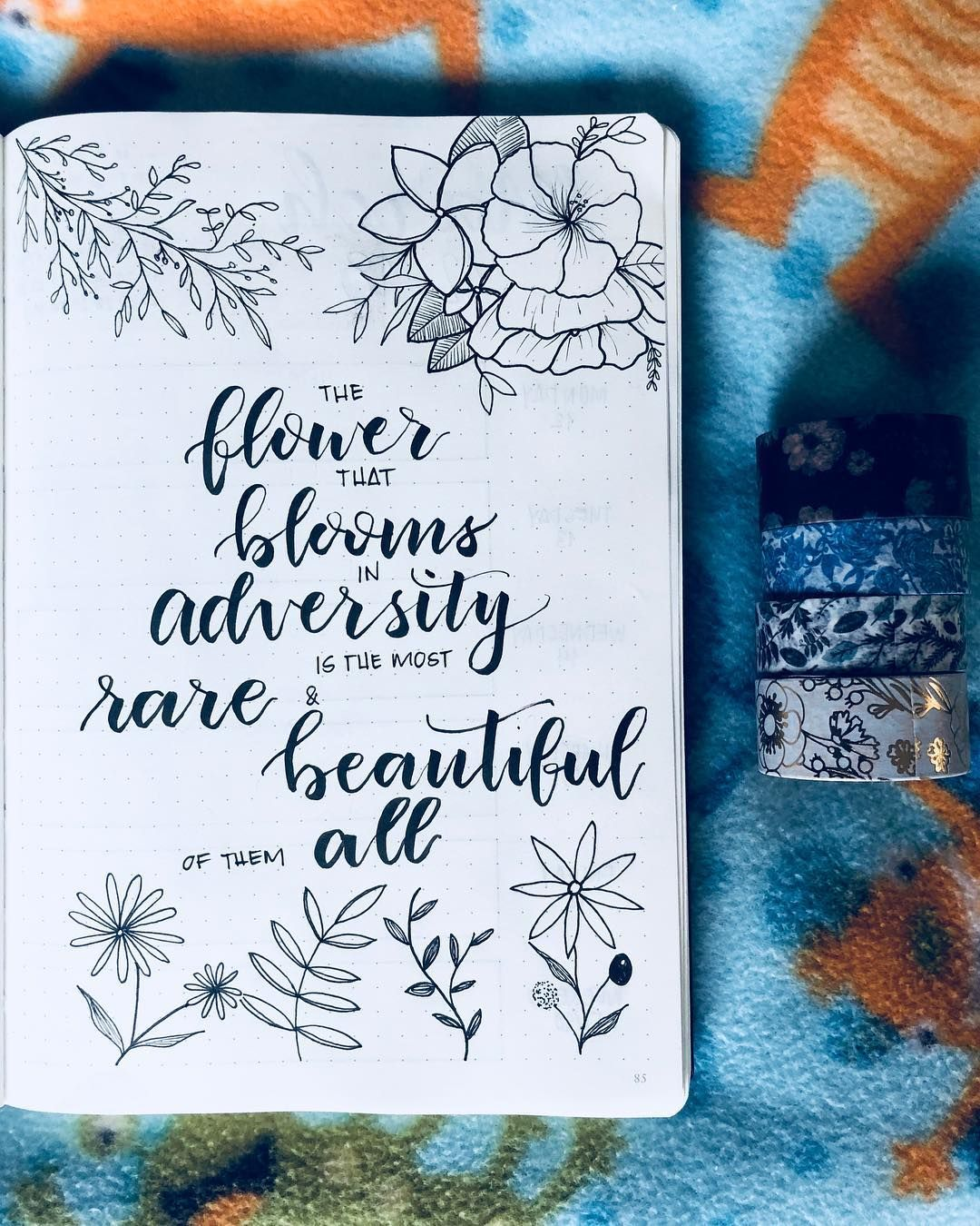 Slam Book Cover Page Quotes: Bullet Journal Motivational Quotes, Flower Drawings