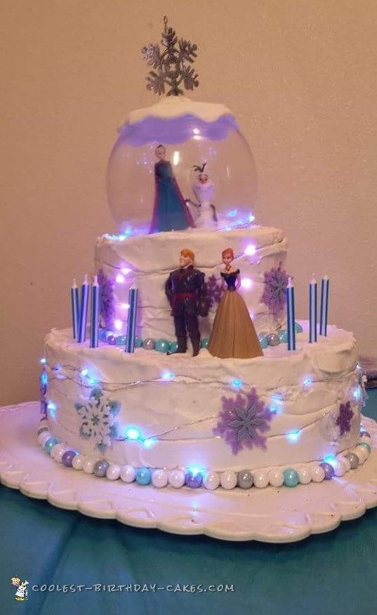 Light Up Frozen Cake Coolest Birthday Ideas