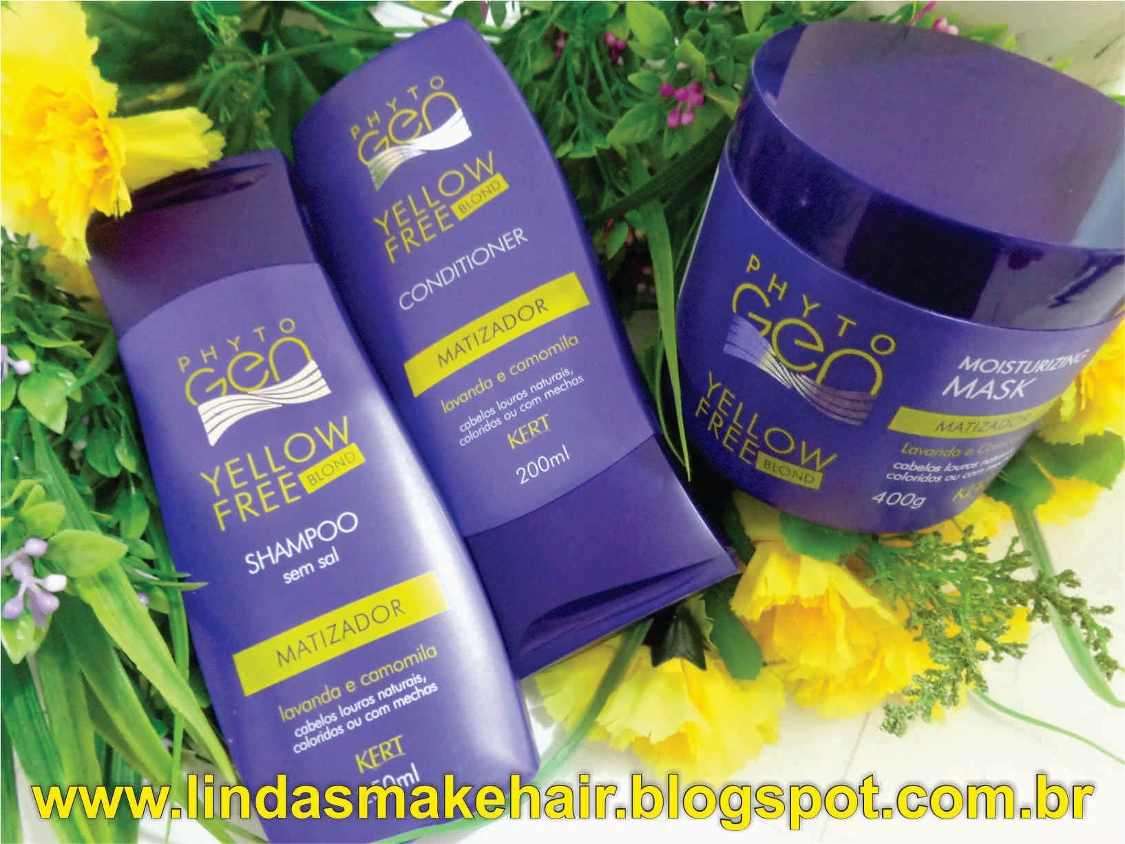 Kit Capilar Yellow Free Blod Phyto Gen com Lindas Make Hair