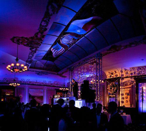 Blue Lighting Stage The Driskill Hotel Purple