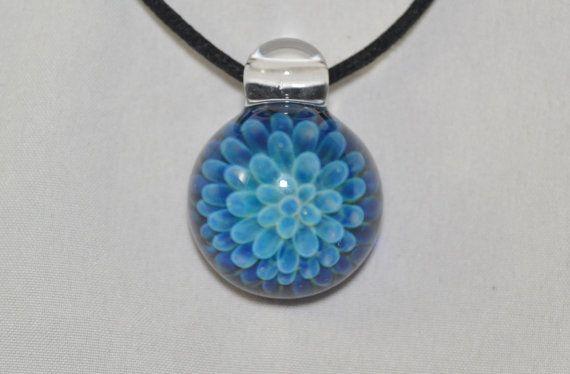 heady glass pendant trippy blown glass necklace glass - Heady Glass Pendants