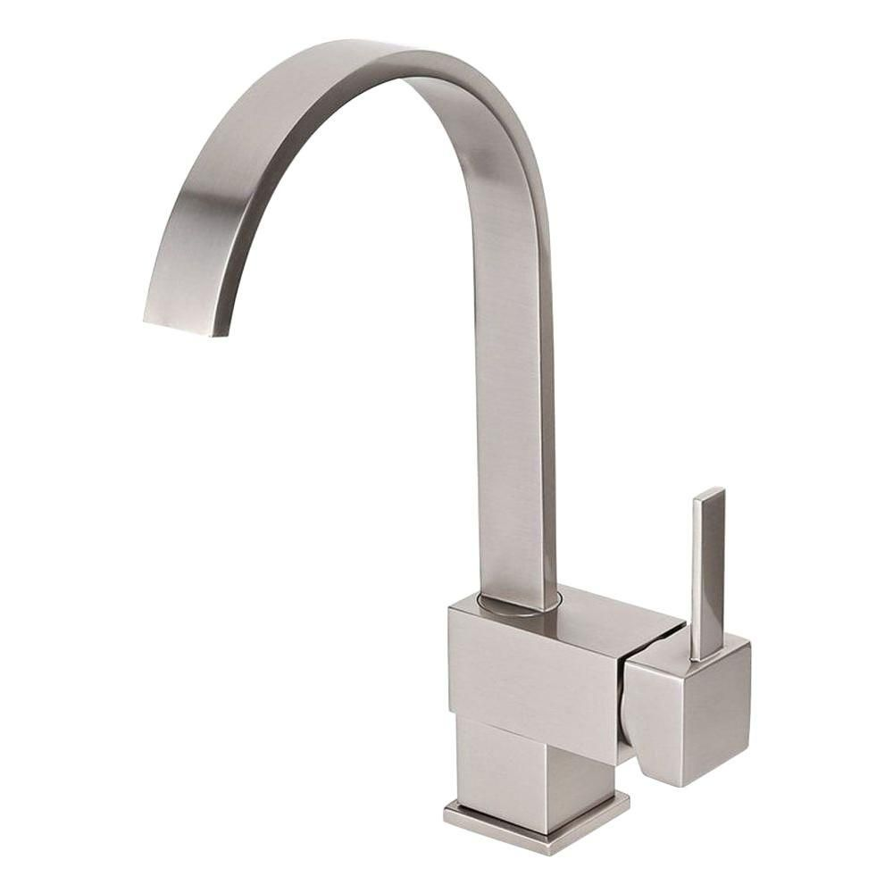 Kokols Single Hole Single Handle Vessel Bathroom Faucet With Swivel Spout In Brushed Nickel Bm010bn The Home Depot High Arc Kitchen Faucet Bathroom Faucets Sink Faucets [ 1000 x 1000 Pixel ]