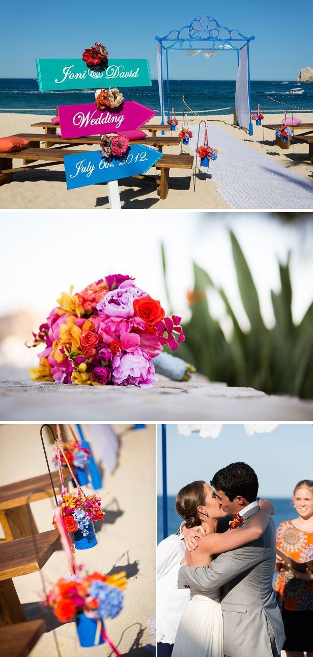 Mexican wedding decoration ideas  Colorful Beach Destination Wedding in Mexico  Mexico destinations