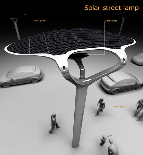 Solar Street is an energy saving concept for public spaces