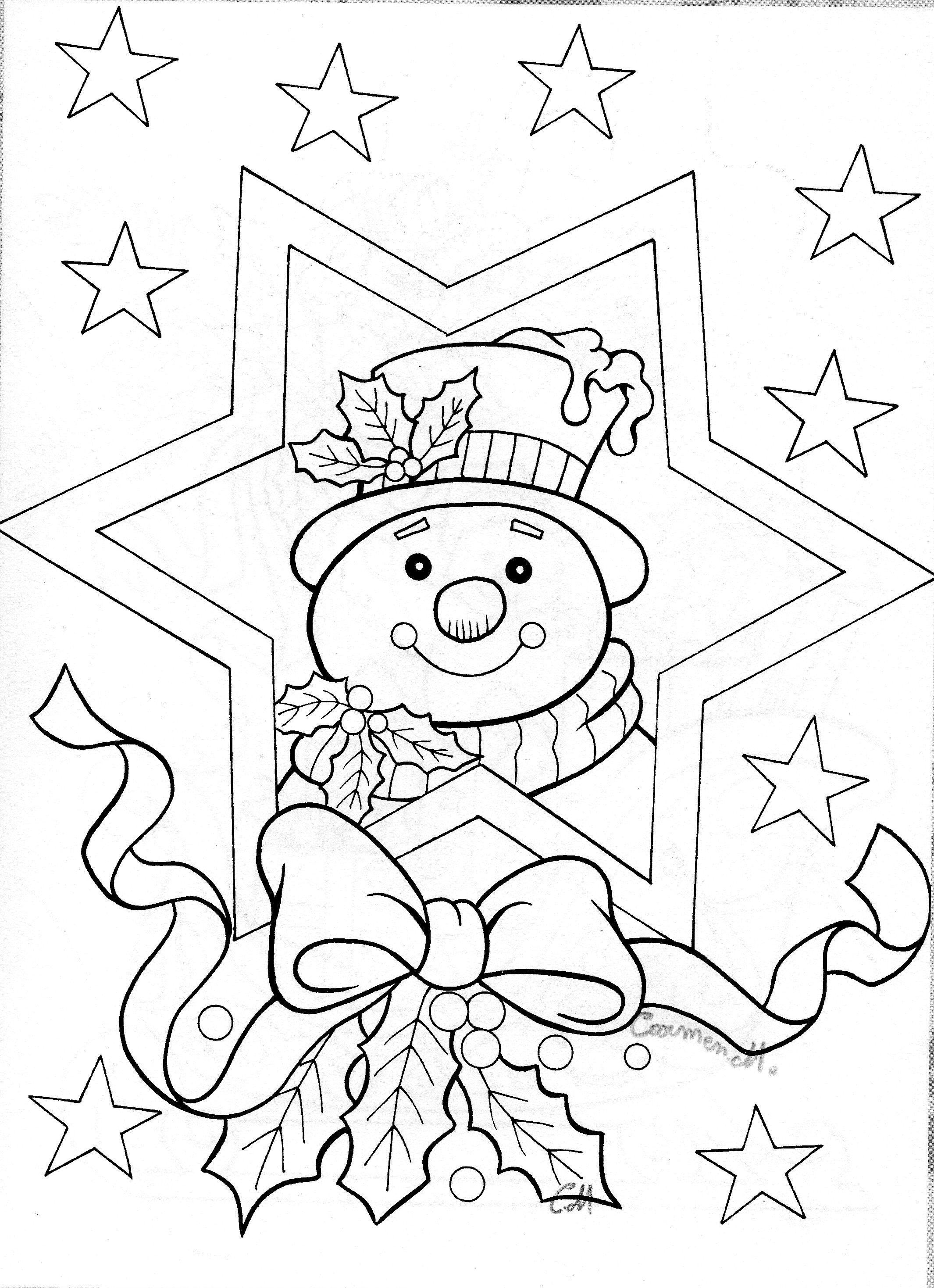 Snowman in star | Printjes kerst | Pinterest | Snowman