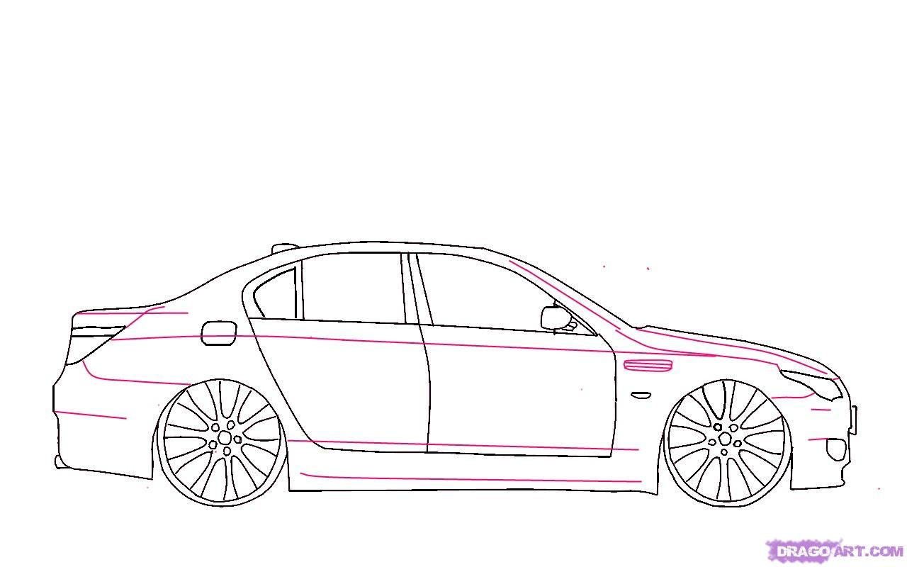 How To Draw A Bmw X5 Step By Step 7 Desicars Bmw X5