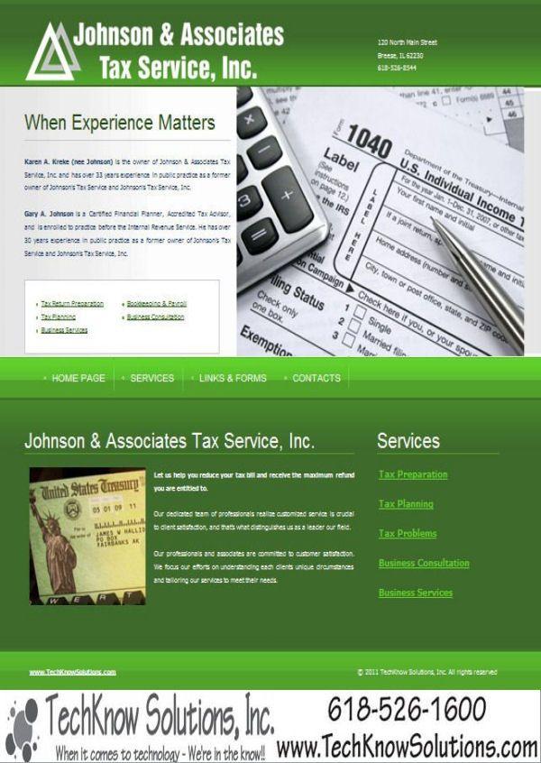 Johnson & Associates Tax Service, Inc Website #techknowsolutions