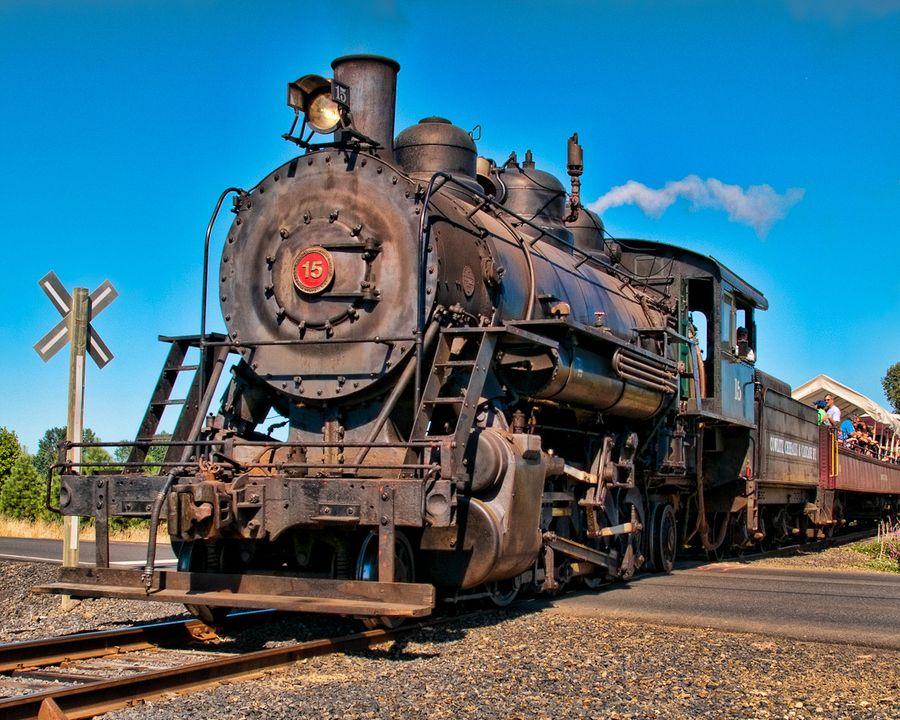 Baldwin Mikado 15 on the ChehalisCentralia Railroad