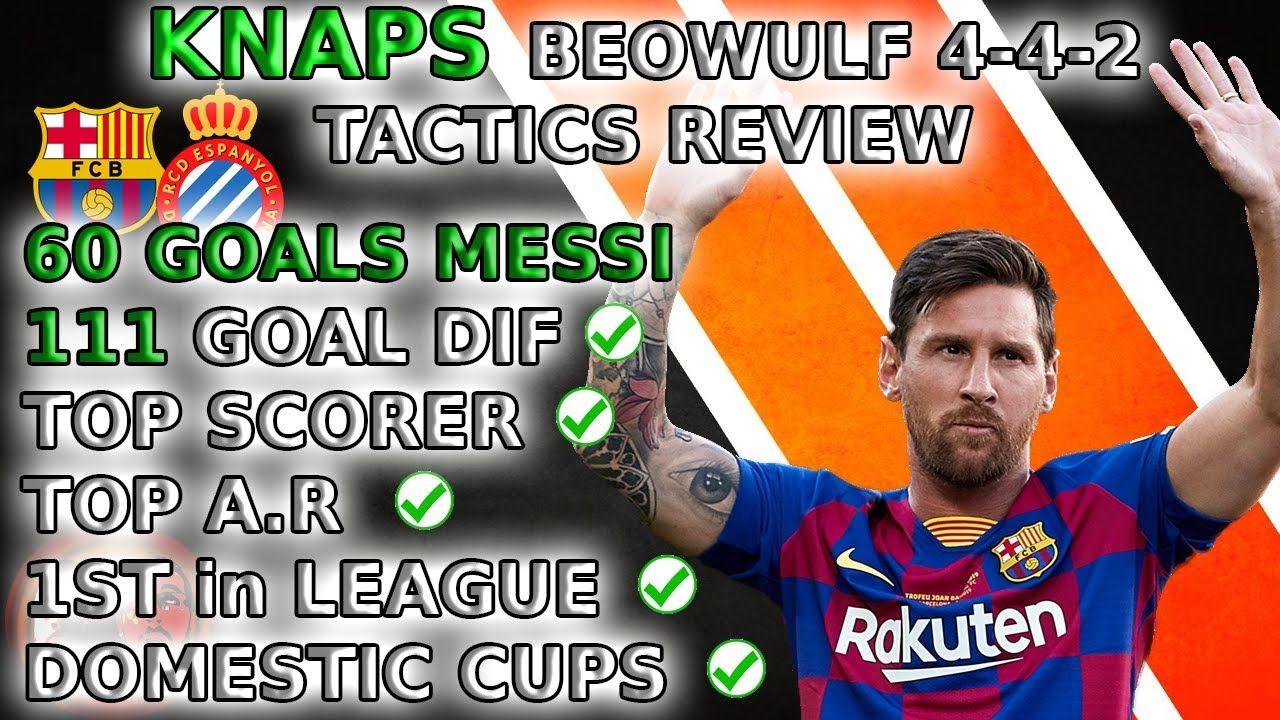 Unbeaten Beowulf 4 4 2 60 Goal Messi Football Manager 2020 Tactics In 2020 Messi Football Manager Goals