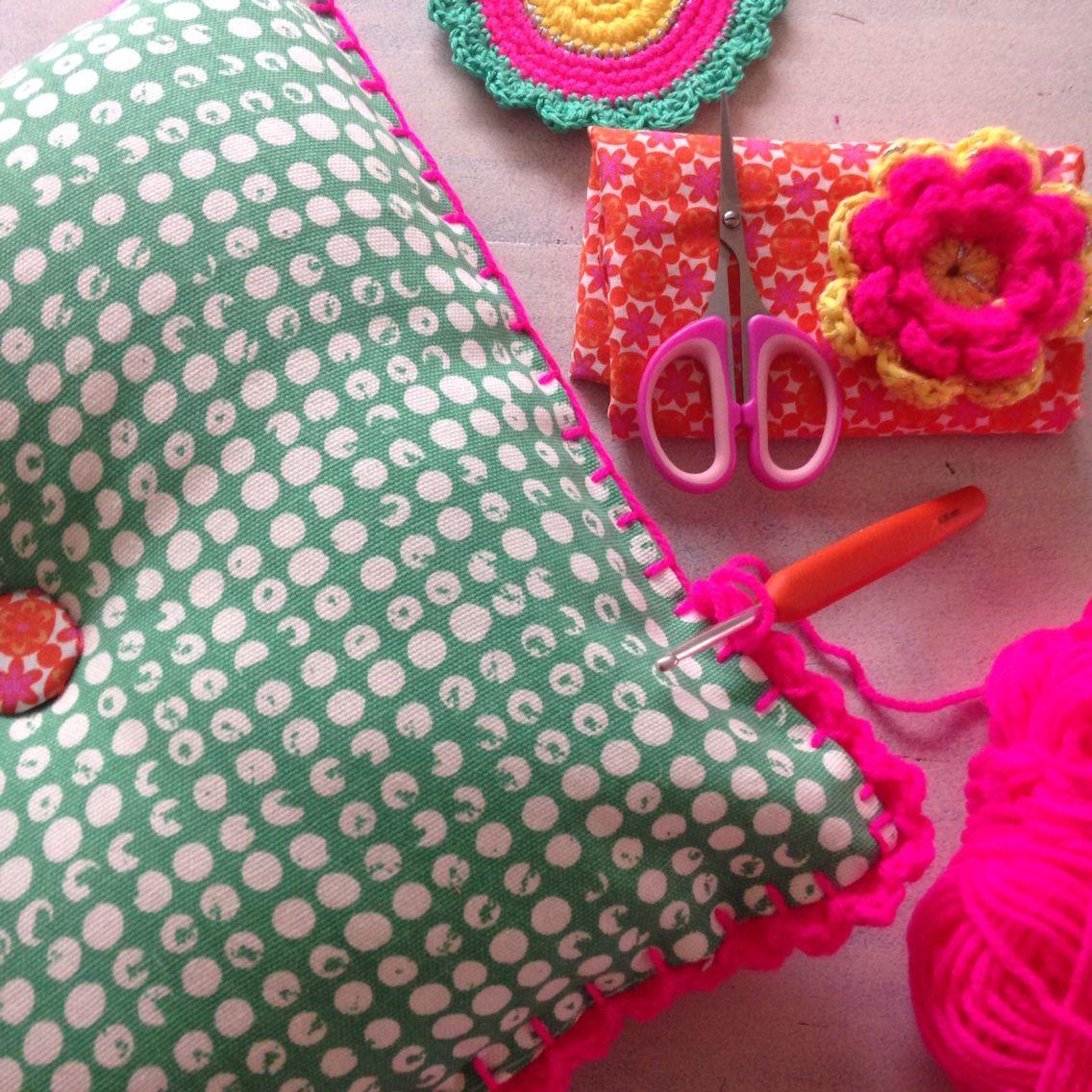 Studio Hip en Stip - randje om kussen haken | haken & crochet ...