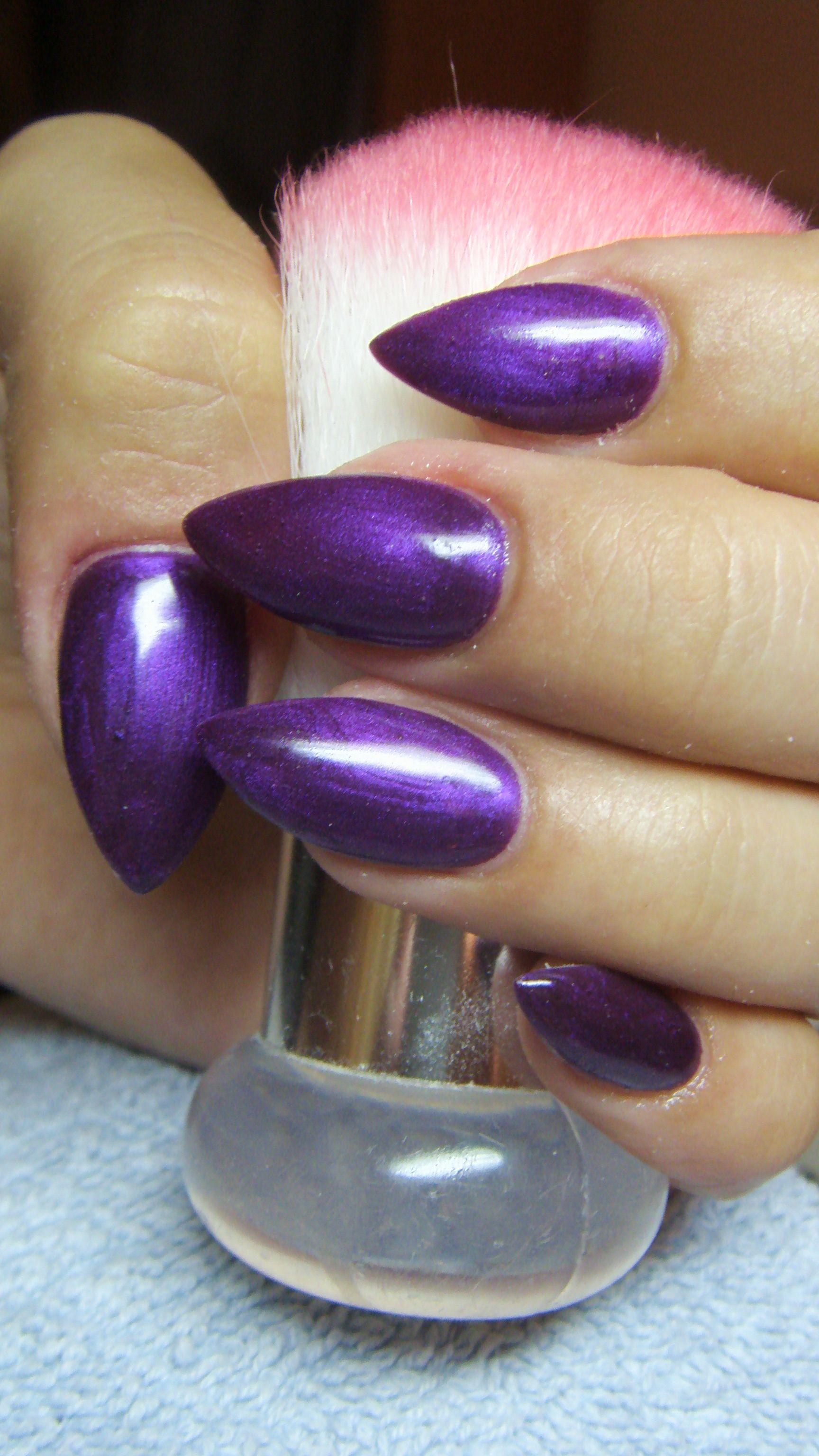 Dark purple stiletto nails | <333 | Pinterest | Purple stiletto ...