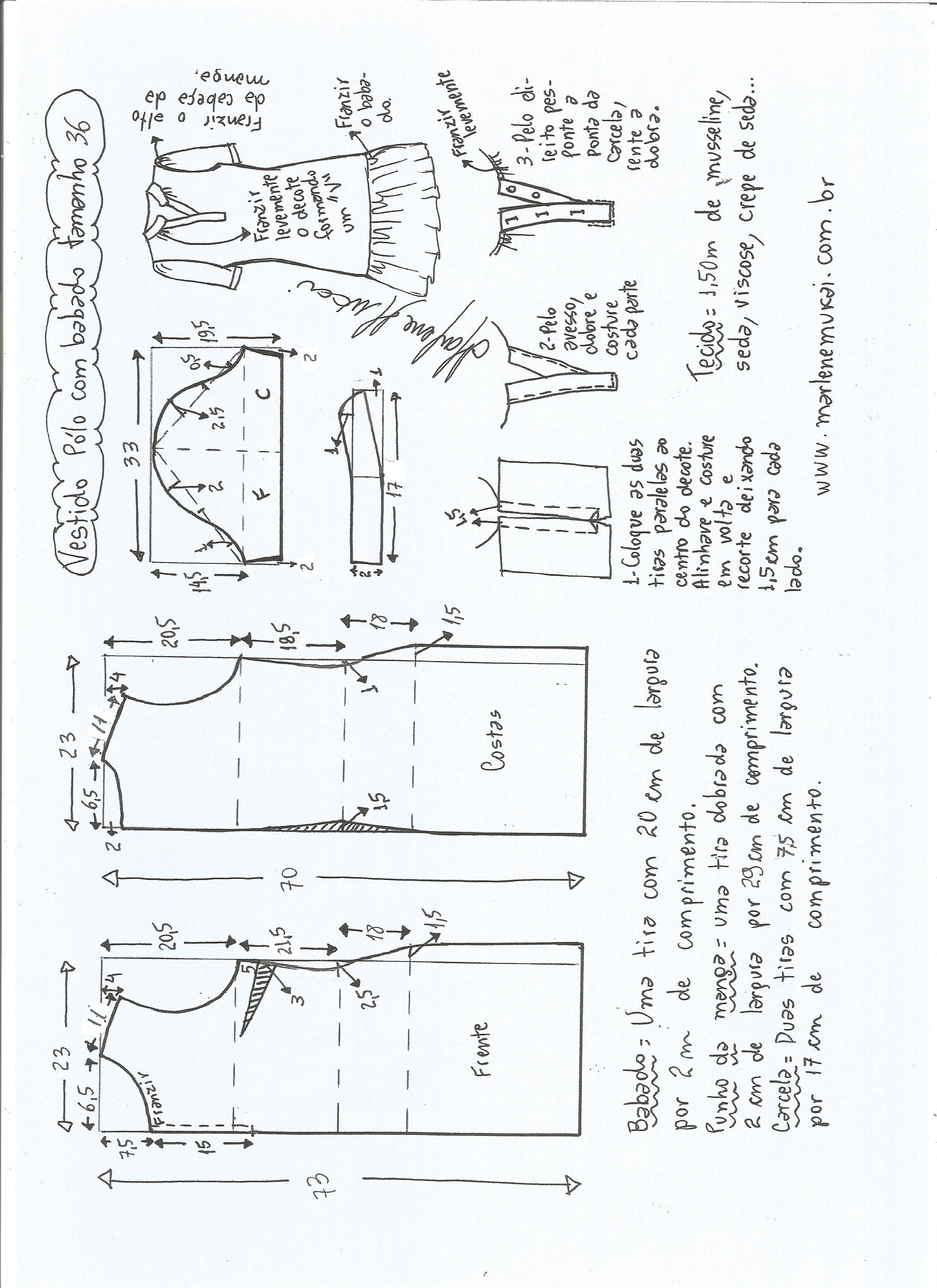 68c2d9843 Patrón vestido de polo con volante | Corte y confección ...