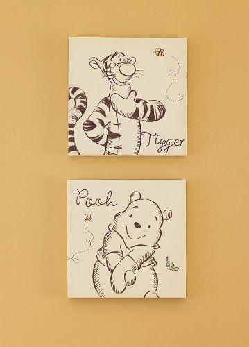 A Bear Named Pooh Canvas Wall Art 2 Piece By Kids Line 6 99 A Bear Named Pooh Canvas Wall Art 2 Piece Winnie The Pooh Nursery Pooh Bear Nursery Baby Disney