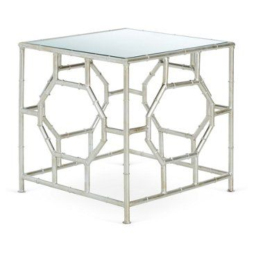Check Out This Item At One Kings Lane Carrie Accent Table Silver Mirrored Side Table Living Room Side Table Silver Side Table