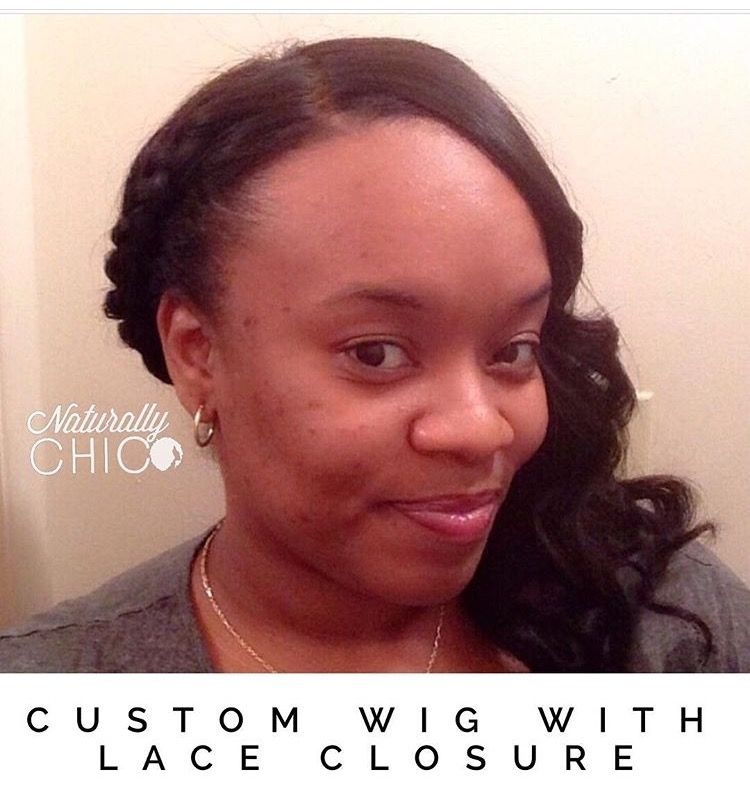 Full Wig With Lace Closure Naturally Chic Custom Wigs Pinterest