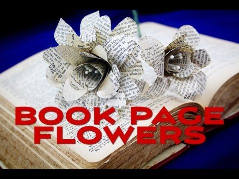How to make paper flowers from book pages youtube book crafts how to make paper flowers from book pages youtube mightylinksfo