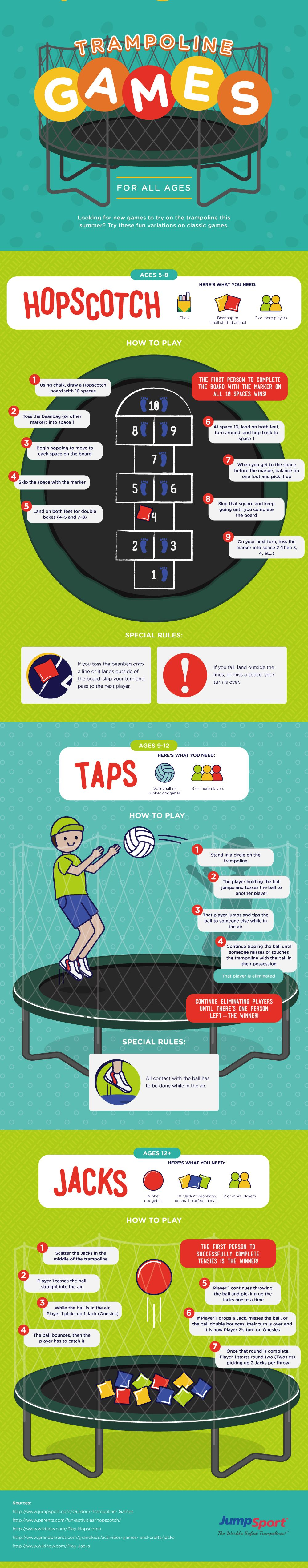 Fun Trampoline Games for the Summer Trampoline games