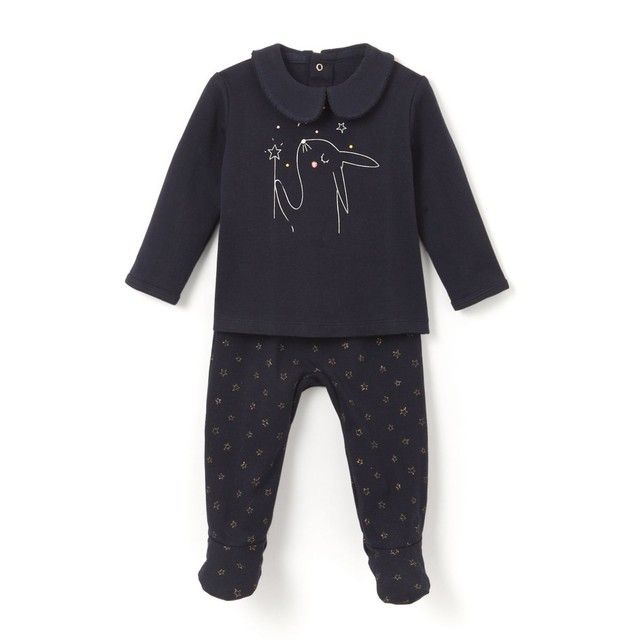 Pyjama 2 pièces coton 0 mois-3 ans La Redoute Collections Vetement Bébé Pas  Cher af1932adc85