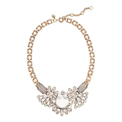 Crystal compilation necklace - J. Crew