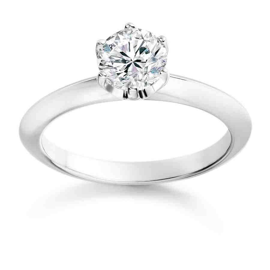 Simple e Diamond Engagement Rings