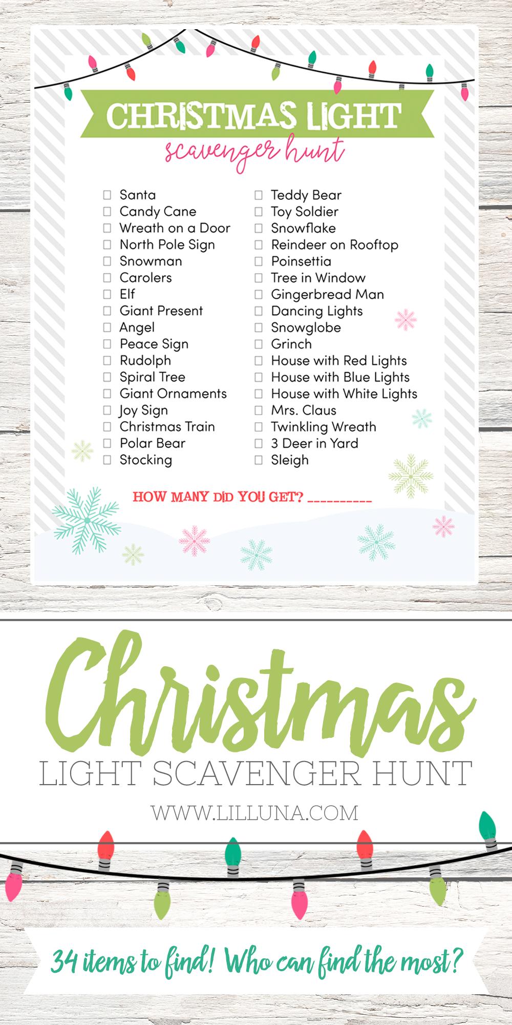 Christmas Light Scavenger Hunt | Lyrik und Weihnachten