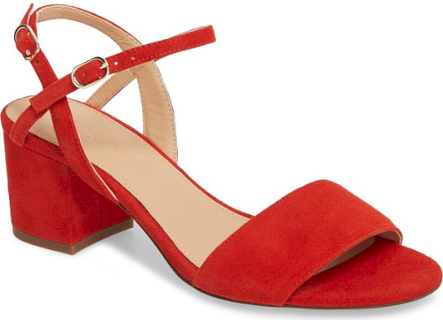 red sandals low heel