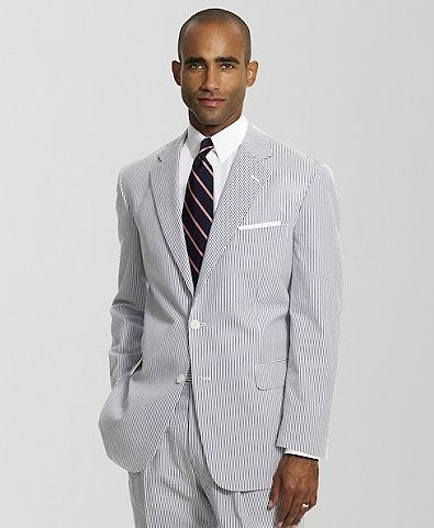 Two Button Seersucker Madison Suit By Brooks Brothers Bridal