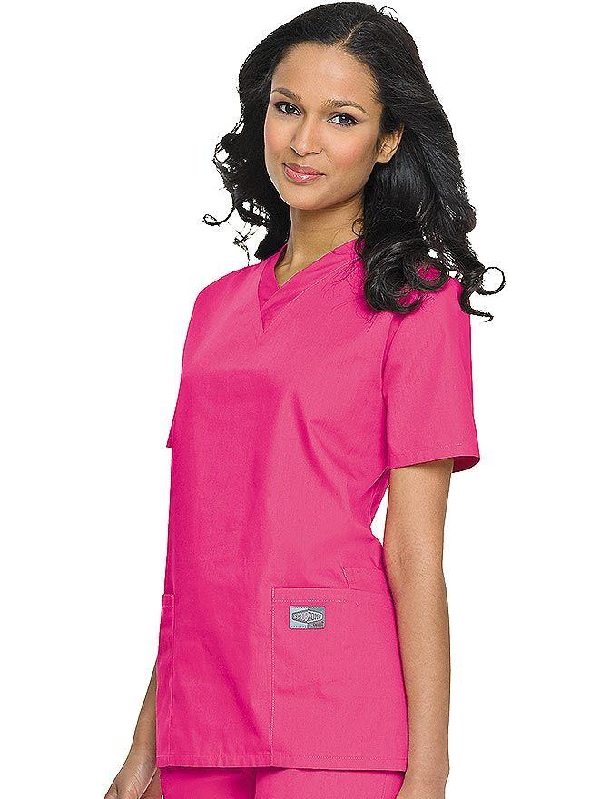bc652ad1cd8 Landau ScrubZone Women's Double Pocket V-Neck Nursing Top Item #: LA ...