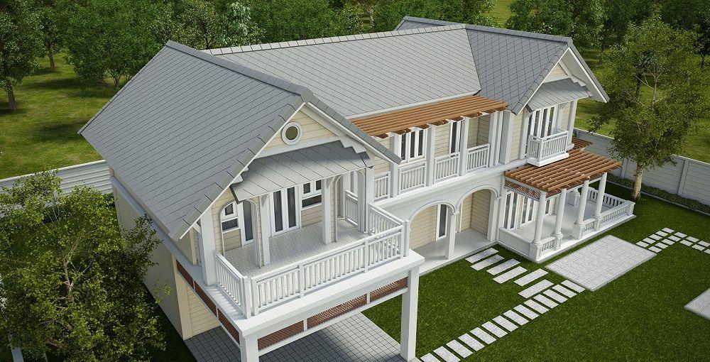 เอสซ จ แจกแบบบ าน6สไตล ฟร House Styles Architect House Bungalow House Design