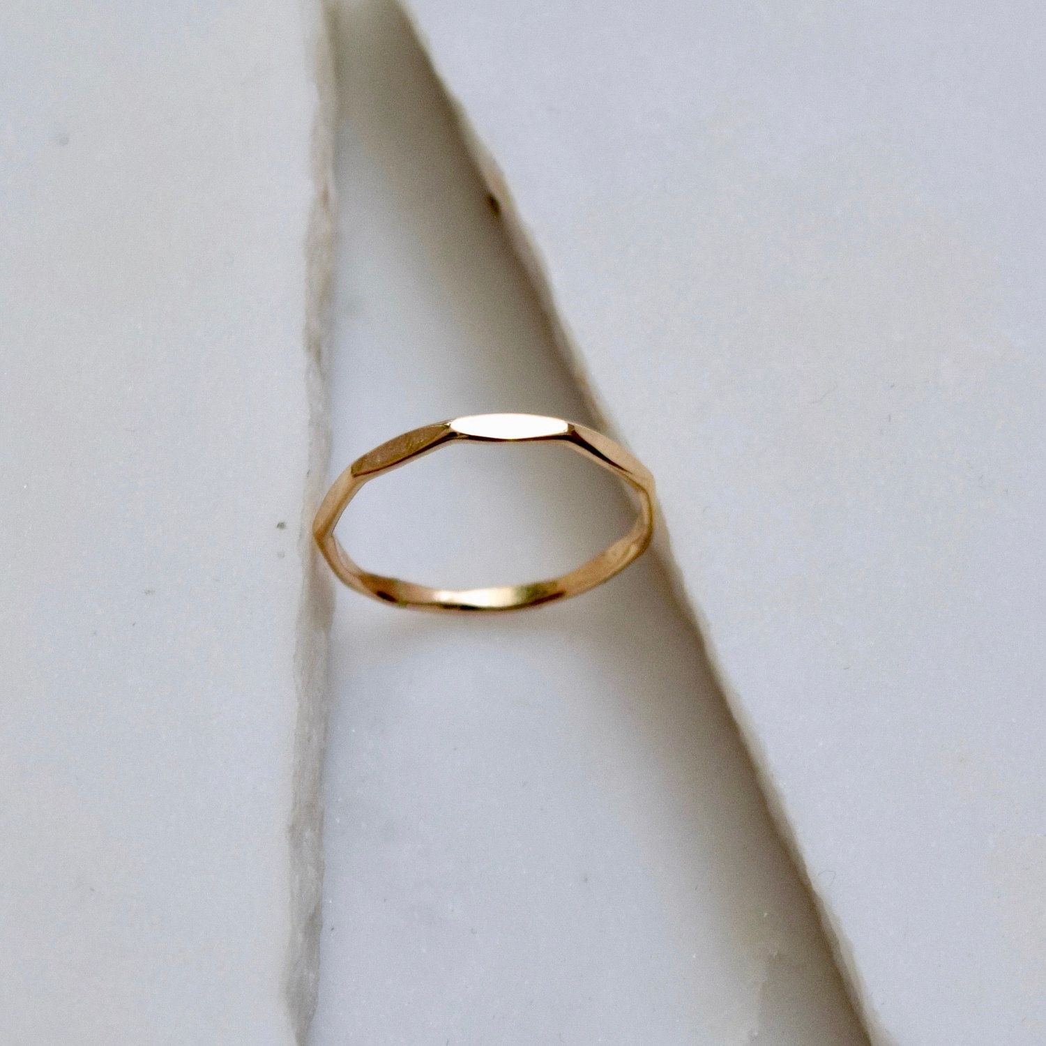 14k Gold Ring Simple Wedding Ring Simple Gold Ring Solid Etsy Gold Rings Simple Solid Gold Rings Plain Gold Ring