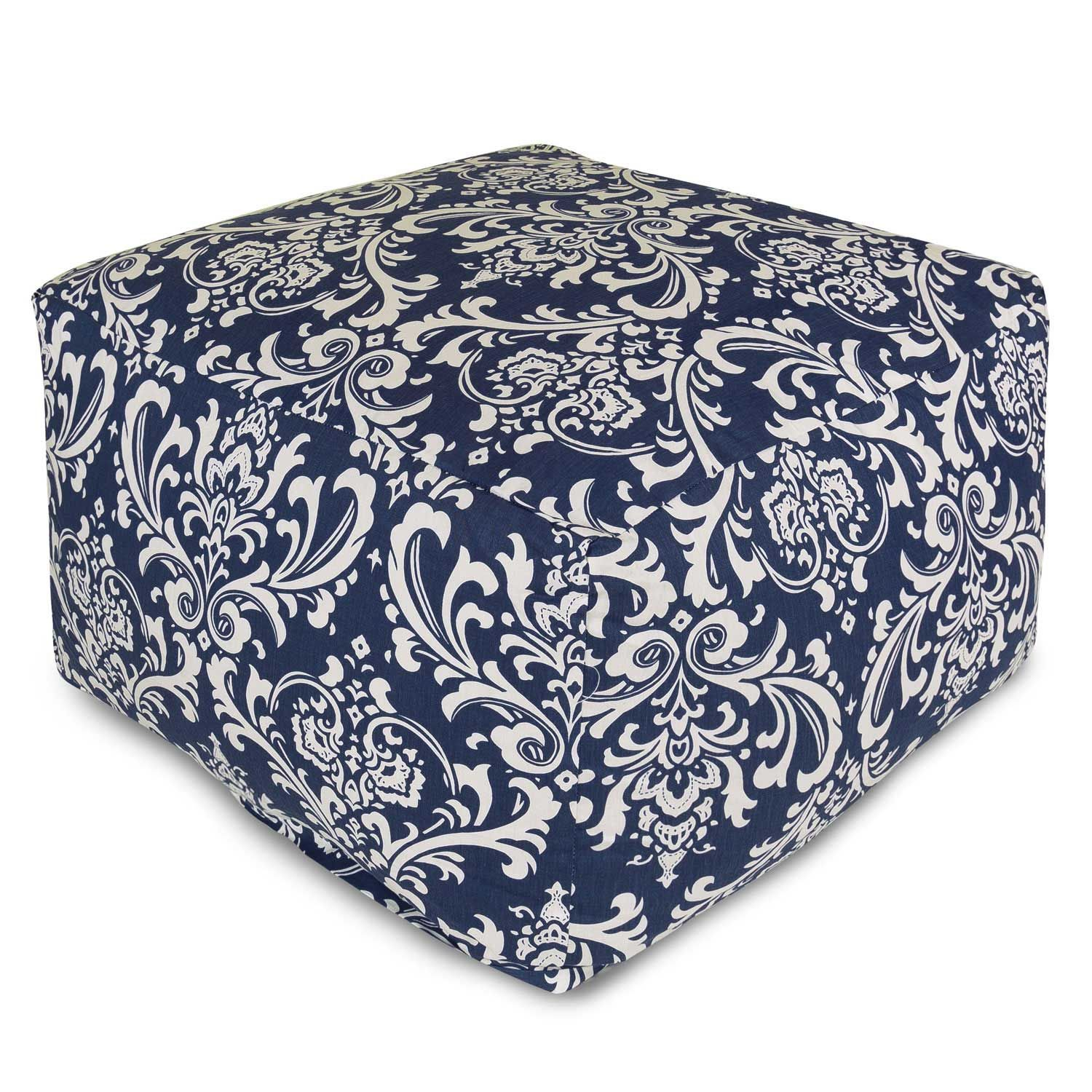 Large Printed Outdoor Ottoman