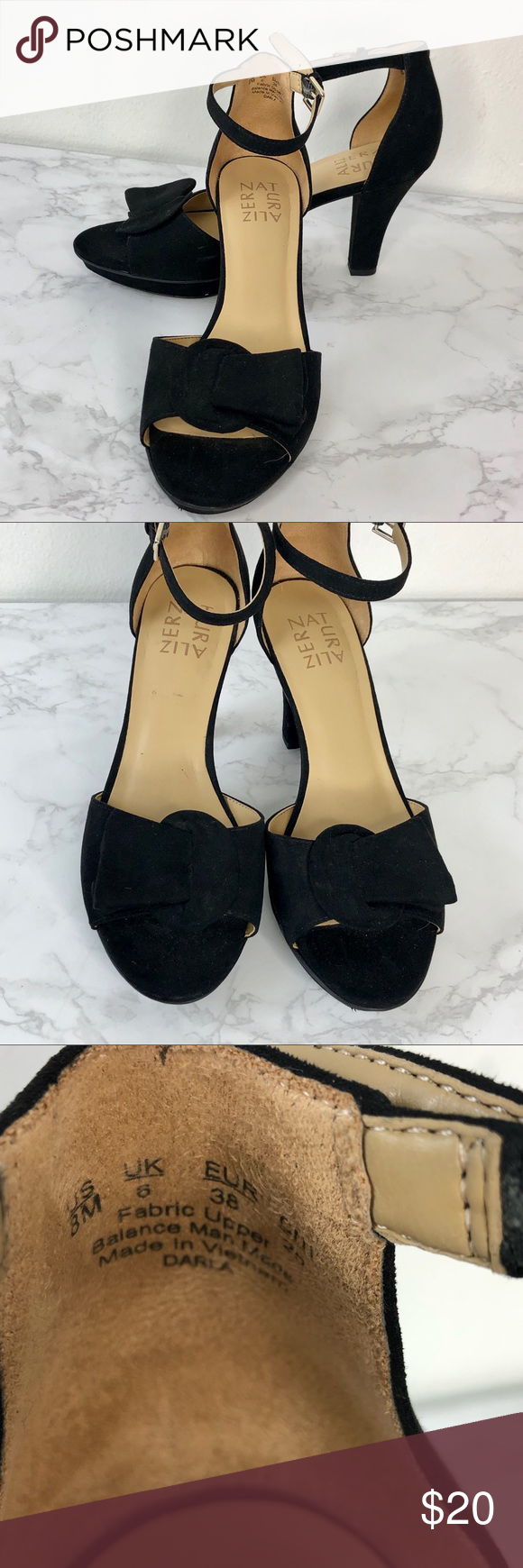 130ac6456b Naturalizer Black Suede Platform Sandal Darla Gently used - see pics. Size  8 Add a