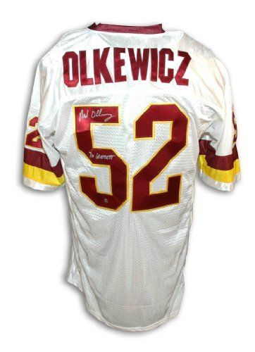 check out ecb20 d5e8d Neal Olkewicz Autographed Washington Redskins White ...