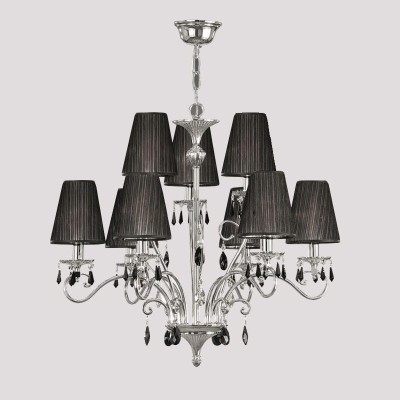 Costco Uk Swarovski Crystal Chandelier Canopy Tier In Chrome And Black