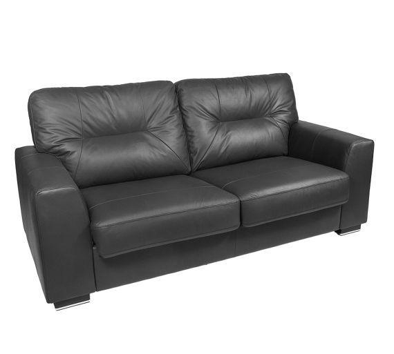 Leather Sofa Bed Black At Argos Co Uk