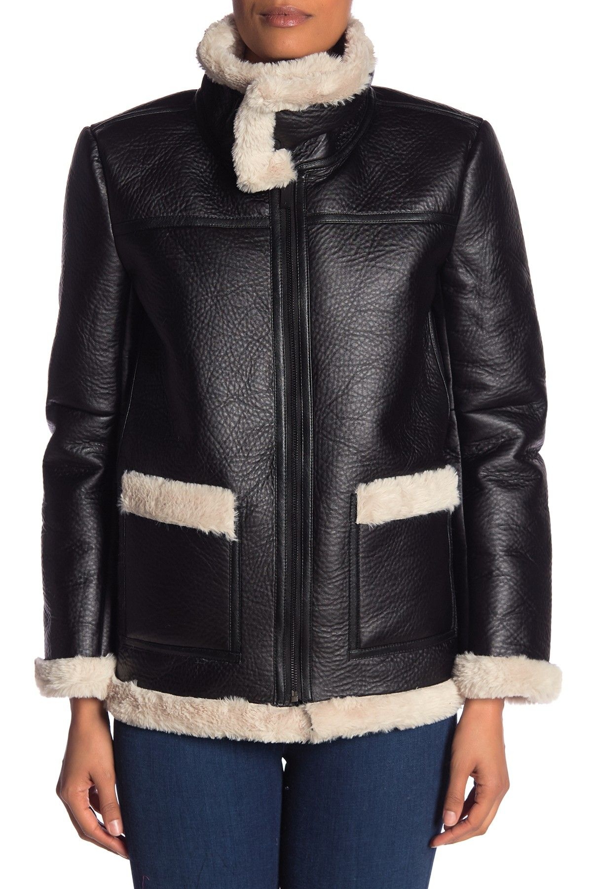 Vince Camuto Faux Leather Shearling Coat Nordstrom Rack Shearling Coat Faux Shearling Coat Shearling [ 1800 x 1200 Pixel ]