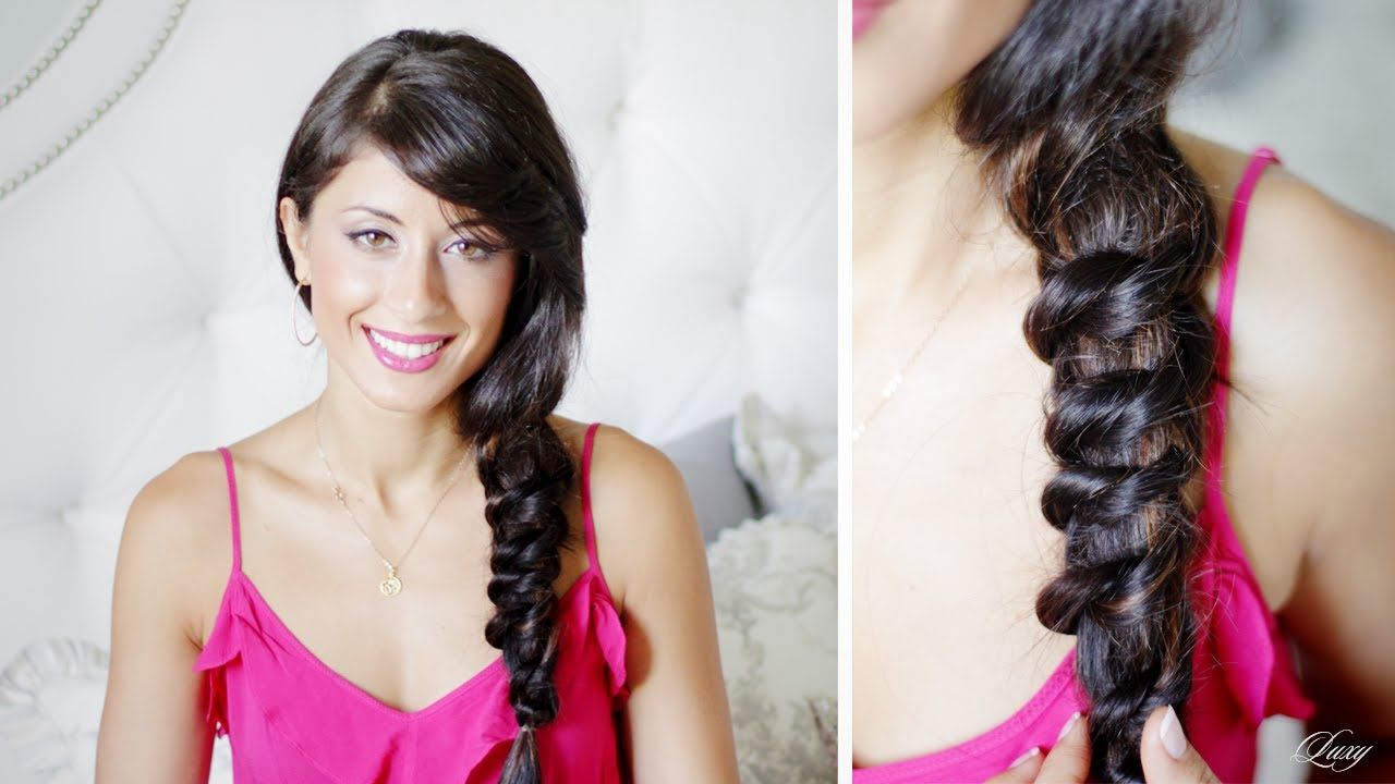 knotted messy side braid | hair | braids for long hair, side