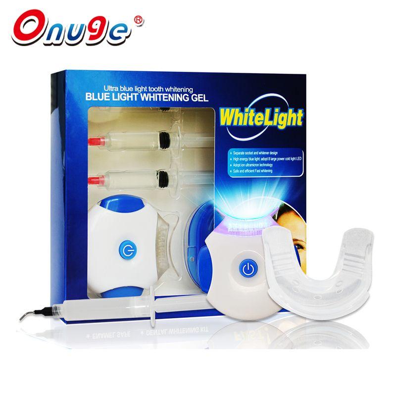Professional Home Use 8x Led Blue Light Teeth Whitening Kit Hydrogen Gel Syringes Lamp Applicator Tray Tooth Bleaching Kit Teeth Teeth Bleaching Kit Teeth Whitening Diy Teeth Bleaching