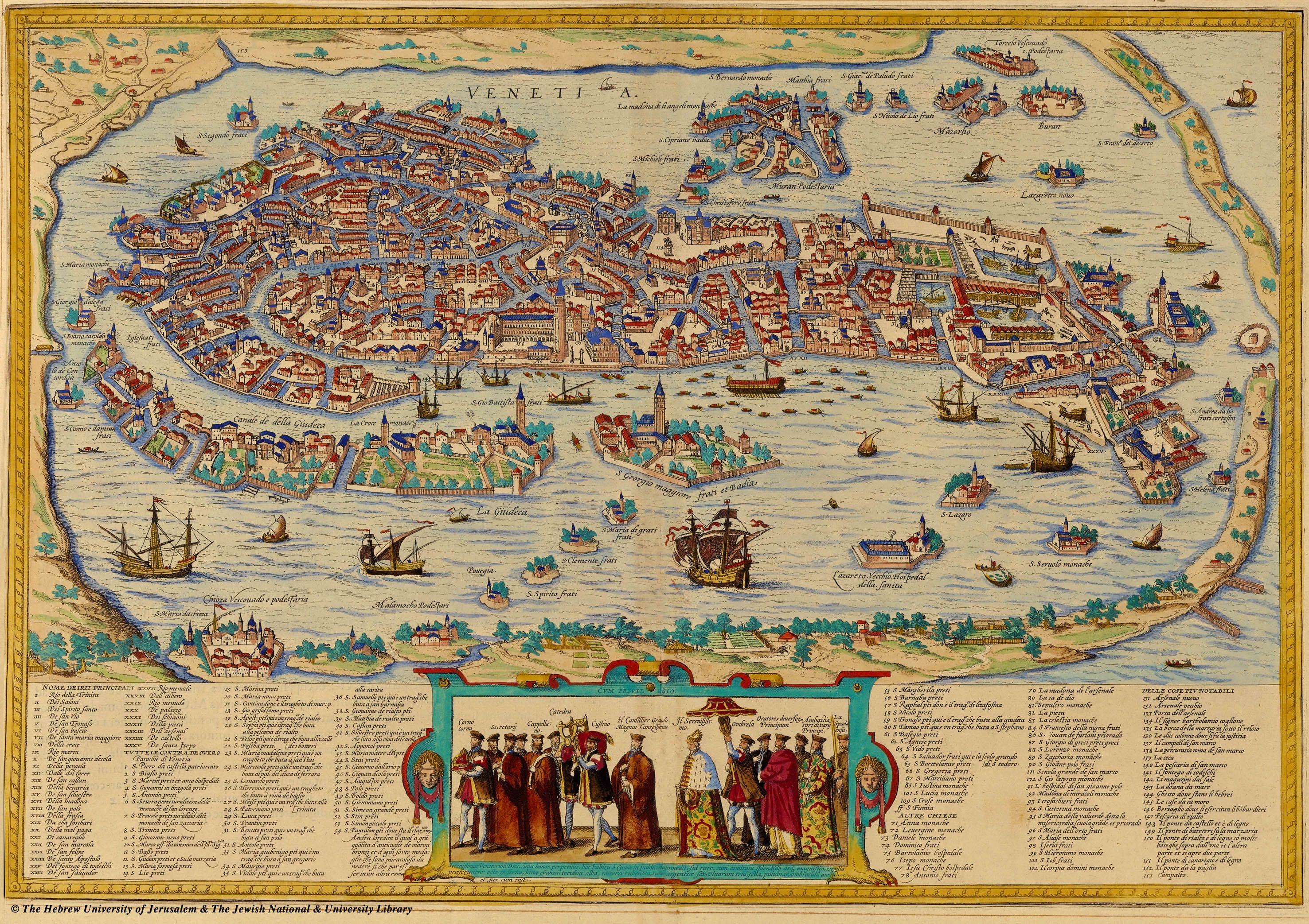 Contemporary Maps Of Renaissance Italian Cities Courtesy Of The - Venice city map