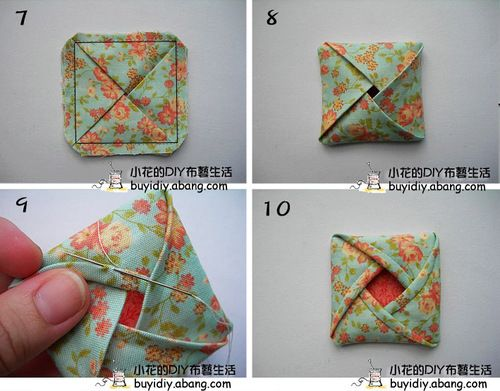 Origami Fabric Flower Patchwork Pinterest Fabric